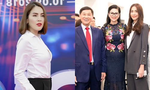 Hoa hậu Phương Lê đeo đồng hồ 3 tỷ dự sự kiện của gia đình Hà Tăng