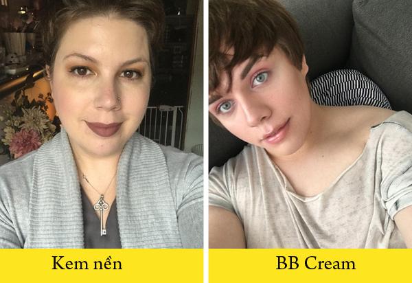 Dùng kem đa năng Thay vì dùng hai lớp kem lót và kem nền, bạn có thể sử dụng sản phẩm kem đa năng như BB Cream hay CC cream để vừa che phủ tốt vừa có được lớp nền mỏng, tự nhiên.
