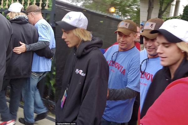 Justin Bieber và cha vợ tương lai Stephen Baldwin. Ảnh: Mail Online