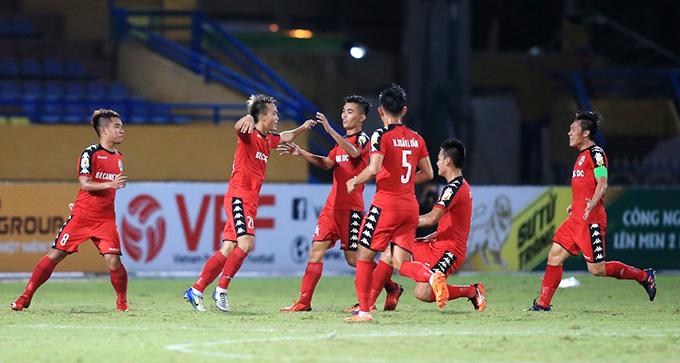 Bình Dương có chút lợi thế ở trận lượt về Cup quốc gia khi hòa 3-3 ở lượt đi trên sân Hàng Đẫy của Hà Nội. Ảnh: VPF.