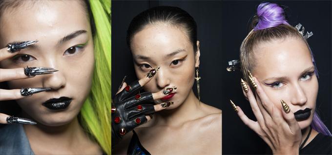 Hiếm khi việc trang trí móng tay được chú trọng trong các show thời trang.