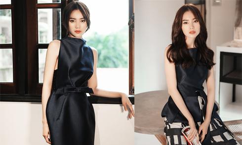 Lan Ngọc gợi ý mặc đẹp cùng mốt váy thắt eo