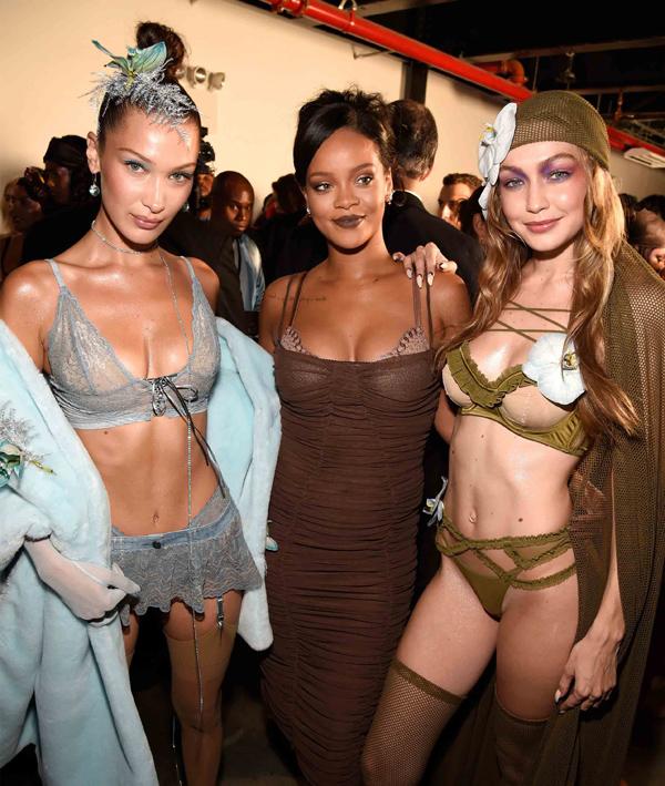 Trong ngày cuối New York Fashion Week Xuân hè 2019, Rihanna (giữa) trình làng bộ sưu tập nội y Savage x Fenty và để lại nhiều ấn tượng trong lòng giới mộ điệu bởi dàn người mẫu độc đáo.