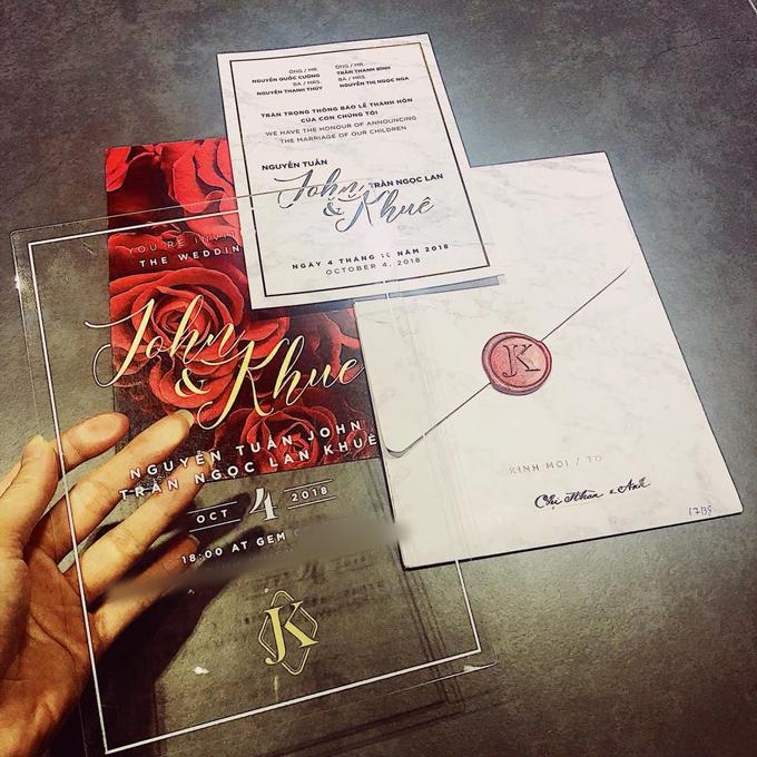 Top 6 Hoa khôi Áo dài - Phan Thị Thanh Nhàn chia sẻ trên facebook về thiệp cưới của Lan Khuê và gửi lời chúc phúc tới cô dâu. Ảnh: Facebook Phan Thi Thanh Nhan