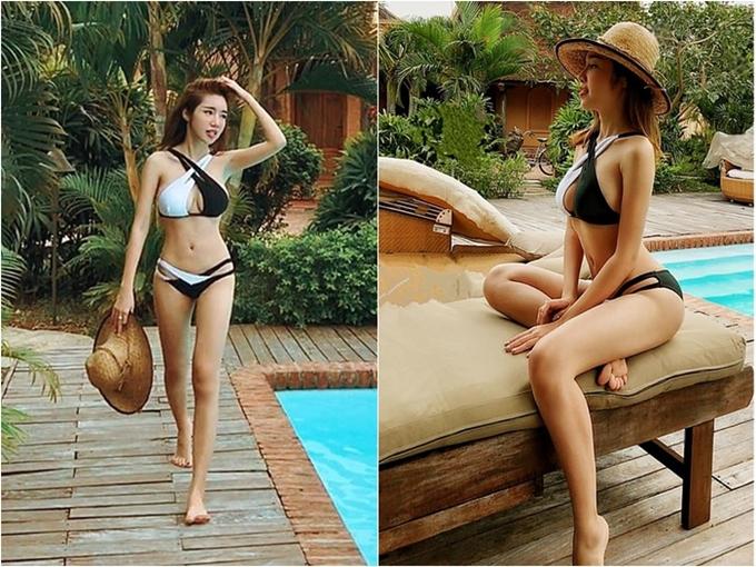 Elly Trần từng vấp phải nhiều nghi ngờ can thiệp phần mềm chỉnh sửa giúp cơ thể gợi cảm hơn. Vì thế, việc đăng tải hình ảnh bikini là cách cô âm thầm đáp trả anti-fan.