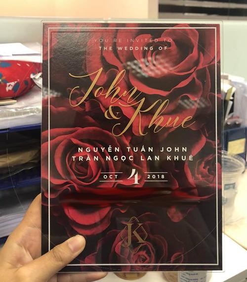 Thiệp cưới của Lan Khuê là hot trend mùa cưới 2018