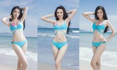 Thí sinh Hoa hậu Việt Nam khoe vóc dáng với bikini ở Đà Nẵng