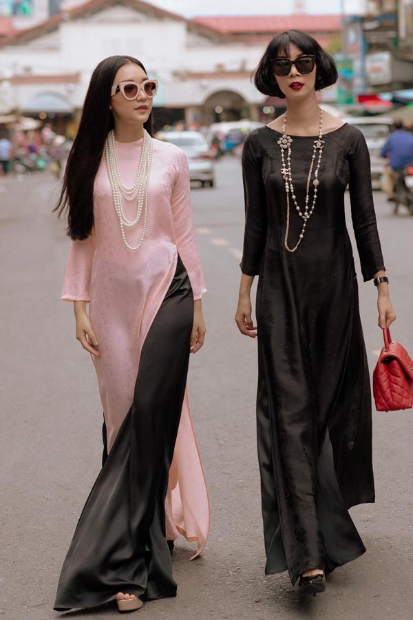 Xuân Lan cùng nàng thơ xứ Huế diện áo dài, hóa thiếu nữ Sài Gòn xưa - 4
