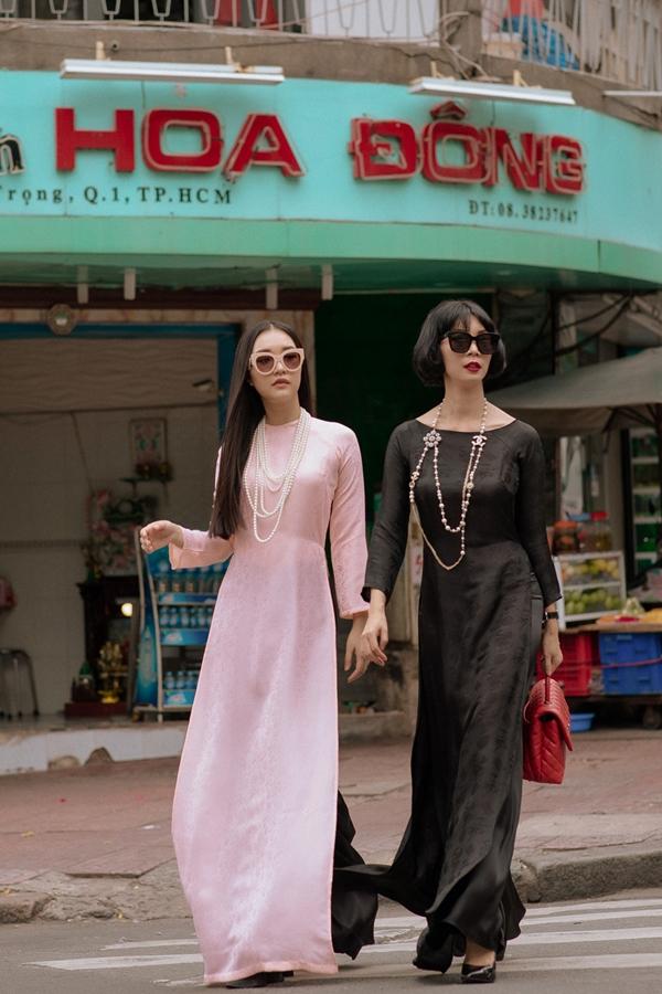 Xuân Lan cùng nàng thơ xứ Huế diện áo dài, hóa thiếu nữ Sài Gòn xưa - 5