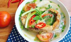 Canh cá măng chua đậm đà
