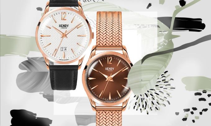 Đồng hồ nam  nữ Henry London phong cách Châu Âu giảm đến 50%, bảo hành2 năm cho máy và tính kháng nước, miễn phí thay pin trọn đời.