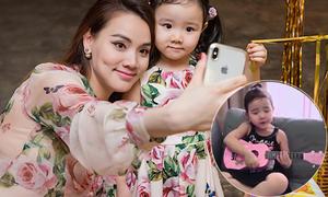 Con gái Trang Nhung ôm đàn hát ngọng nghịu