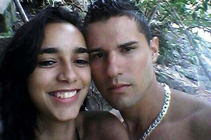 Maycon Salustiano Silva và người vợ 20 tuổi Jennifer. Ảnh: