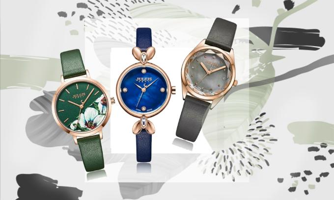 Đồng hồ Julius Hàn Quốc với ưu đãi giảm đến 50%. Thiết kế trẻ trung, mặt kính bằng khoáng cao cấp, trong suốt rõ nét, có độ cứng cao.