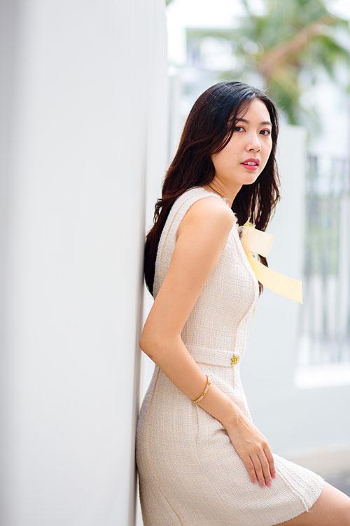 Thúy Vân vào vai cô tiêu thư xinh đẹp, tài giỏi nhưng ế trong phim.