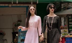 Xuân Lan cùng 'nàng thơ xứ Huế' hóa thiếu nữ Sài Gòn xưa