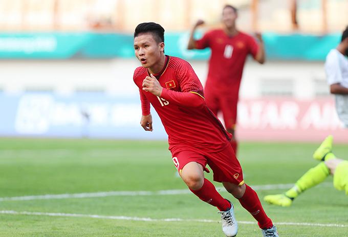 Quang Hải có năm thi đấu thành công cùng U23 Việt Nam, Olympic Việt Nam và CLB Hà Nội. Ảnh: Đức Đồng.