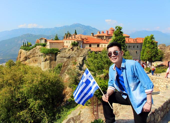 Đoan Trường dành 8 ngày đi trọn đất nước Hy Lạp từ Bắc xuống Nam. Đây là quốc gia thứ 34 anh đã đặt chân đến.