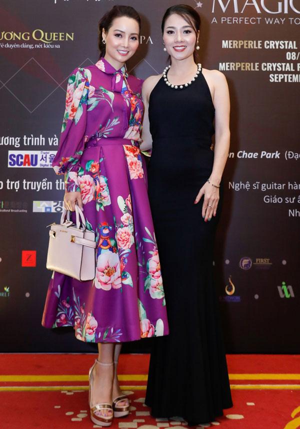 Diễn viên Mai Thu Huyền - Á hậu Quý bà thế giới Hoàng Yến