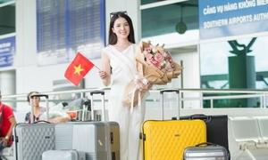 Huỳnh Thuý Vi mang 145 kg hành lý đi thi Hoa hậu châu Á Thái Bình Dương