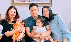 Vợ chồng Lam Trường đưa con gái sang nhà Thanh Thảo