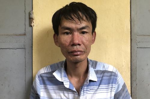 Nguyễn Thế Anh tại tại cơ quan công an.
