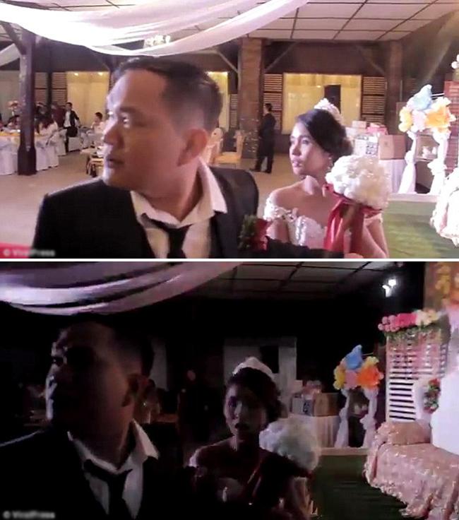 Đám cưới ở Philippines đang vui phải dừng giữa chừng vì bão ập đến