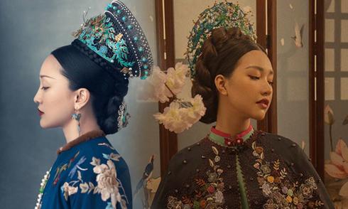 """""""Nàng thơ xứ Huế"""" mang tiếng sao chép phim Trung Quốc khi quảng bá áo dài"""