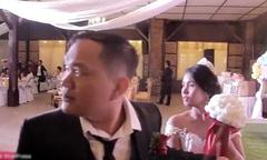 Đám cưới ở Philippines phải dừng giữa chừng vì bão ập đến