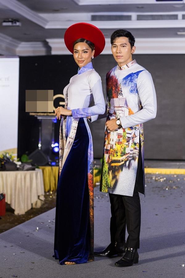 Siêu mẫu quốc tế Khả Trang và Nam vương Ngọc Tình.