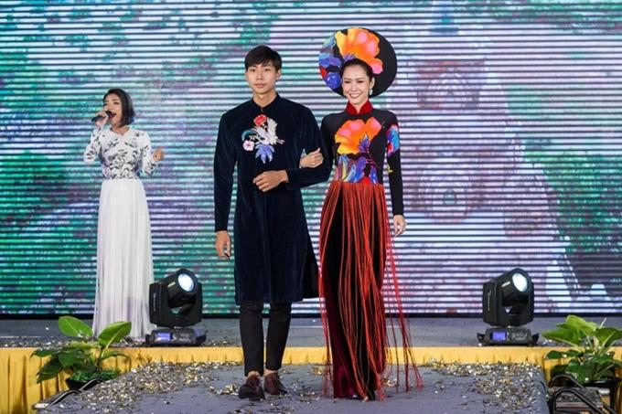 Người mẫu Hữu Long và Hoa hậu Thu Quyên.