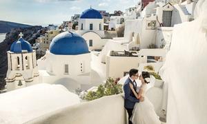 Ảnh cưới chụp ở Santorini của uyên ương nên duyên tại Pháp