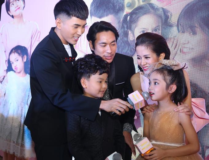 Bé Chu Diệp Anh gây ấn tượng khi diễn rất tự nhiên vai con gái của Kiều Minh Tuấn trong Chú ơi, đừng lấy mẹ con.