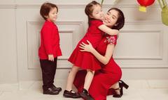 Mẹ con Elly Trần dàn cảnh 'chuyện ba người' trong buổi chụp ảnh