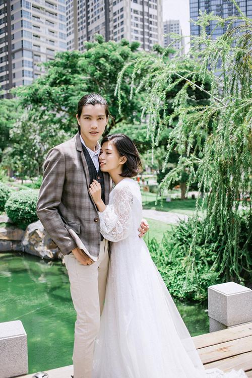 Ảnh cưới chụp ở công viên lãng mạn không kém phim ngôn tình - 6