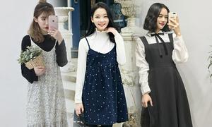 Tận dụng váy hai dây để phối đồ mùa thu