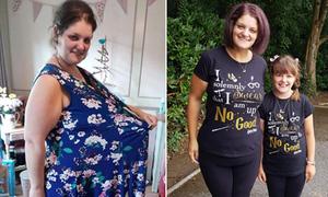 Mẹ hai con giảm 63 kg nhờ 'chia tay' với đồ ăn vặt, bánh ngọt