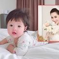 Hoa hậu Thu Thảo lần đầu đăng ảnh rõ mặt con gái