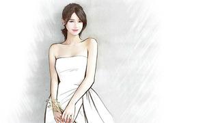 Phác thảo váy cưới đầu tiên của Nhã Phương lộ diện