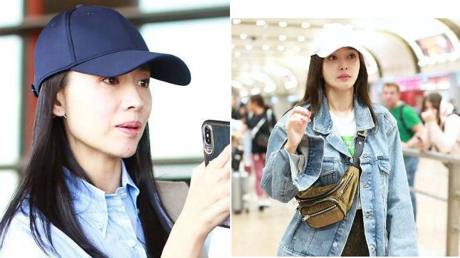 Trước đó, hai nghệ sĩ ra sân bay với thời trang khỏe khoắn.