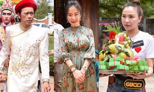 Dàn nghệ sĩ cúng Tổ nghề ở nhà thờ tổ của Hoài Linh