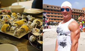 Chàng trai bị nhà hàng buffet Nhật cấm cửa vì ăn 100 đĩa sushi