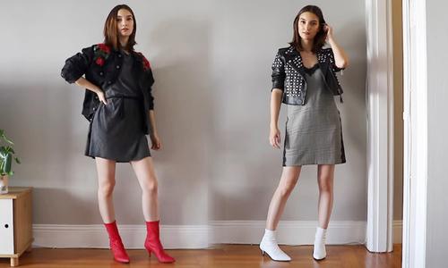 Diện váy mỏng linh hoạt ngày thu