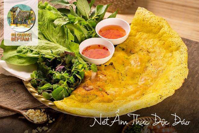 Bánh xèo - một trong những món ăn mang đậm phong vị Quảng.