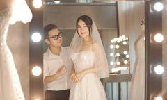 Nhã Phương thử váy cưới