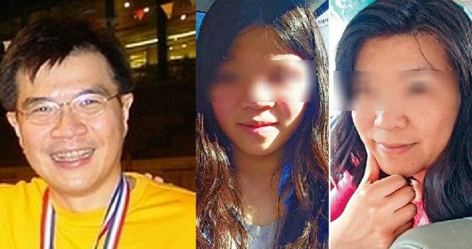 Bác sĩ kiêm phó giáo sư Khaw Kim Sun (bìa trái) lập kế hoạch giết vợ (bìa phải) vào năm 2015 nhưng vô tình khiến cả con gái (giữa) cũng thiệt mạng. Ảnh: Time.