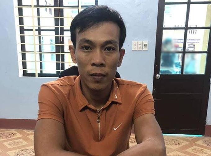 Nghi can Quang tại cơ quan điều tra. Ảnh: C.A