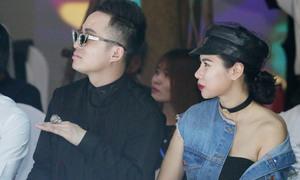 Vợ chồng Tùng Dương 'trốn' con trai dự show thời trang