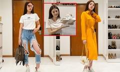 Hoa hậu Jolie Nguyễn trổ tài phối đồ với đôi giày thô kệch gây 'bão'