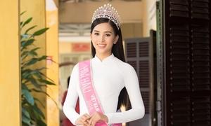 Hoa hậu Trần Tiểu Vy về thăm trường cấp 3 ở Hội An